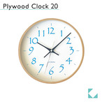 KATOMOKU plywood clock 20 km-119LB 掛け時計