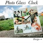 ガラス時計❤︎結婚祝い・誕生日プレゼントにも❤︎写真入りオーダーメイド時計