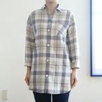 <レディス>リネンコットンのオーバーシャツ