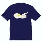 羽づくろうオカメインコTシャツ(シナモンパールパイド女の子)ネイビー