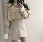 ニットトップス+スカートのセットアップ♡