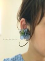紫陽花ピアス『rain blue』(レインブルー)