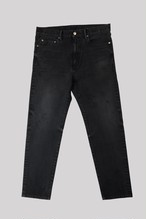 FITTED BLACK SLIM TAPERED LEG<TRIPLE DOUBLE>
