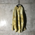 [used] yellow designed shirt