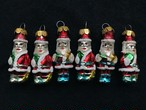 JAPAN Glass Santa Claus ornament