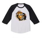 9/30迄トートバッグ付き 2021-longTS-001  :  秋の新デザイン アメリカンスクールバス 5.6オンス ラグラン 3/4スリーブ Tシャツ