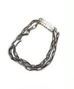 EFFECTEN/エフェクテン Chain logo bracelet