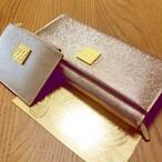プレミアム・クォンタムウォレット「MAI」(シャンパンゴールド)~同素材コインケース+龍体文字フトマニ図クォンタムマネー付属