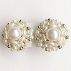 pearl cluster earring[e-972]