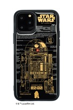 FLASH R2-D2 基板アート iPhone 11 Pro ケース  黒【東京回路線図A5クリアファイルをプレゼント】