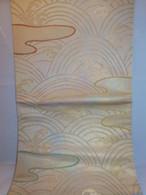 西陣琥珀本袋帯 Nishijin Fukuro obi sash (No66)