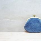がま口 小銭入れ 猪革 藍染 総手縫い gbi-001