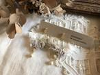 裂き布フープイヤリング plisse  vintage  S  (パーツ変更可)