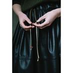 【RehersalL】fake leather skirt(black)/【リハーズオール】フェイクレザースカート(ブラック)