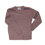 tricolore spring knit pink