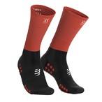 COMPRESSPORT コンプレスポーツ Mid Compression Socks ミッド コンプレッション ソックス BLACK/RED(ブラック/レッド)MDS-R-99RD