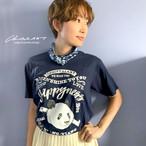 ◆10日まで受注分◆Tシャツ単体(ネイビー地)◆レタリングシャンシャン柄