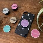 全10色×5種類のフォントから選んで作成♪シンプルイニシャル☆オリジナルスマホグリップ♪【グリッター】