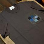 KUON(クオン) 襤褸パッチワークポケットTシャツ ブラック