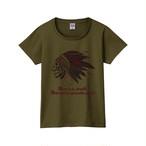 スカル ウォーボーンネット T-shirt(レディース,カーキのみ)