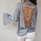 【予約販売】Back-point Flare Knit《GRAY》