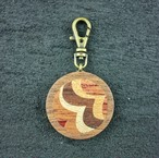 wooden inlaid charm IH-014-WT