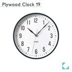 KATOMOKU plywood clock 19 km-111BR ブラック