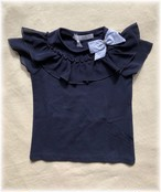 ELSY フリルリボンTシャツ