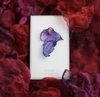 濃紫の幻|染めオーガンジーの片耳アートピアス