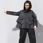 ★UNISEX   ルーズフィットナイロンロープフードジャケット 韓国ファッション