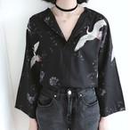 Vine printed loose shirts 2889
