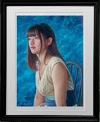 「marble×marble -blue ocean-」版画作品