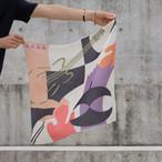 Silk 'Benedict' cream リング付きミニスカーフ