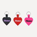 「HEART」ラバー キーホルダー ピンク