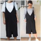 Letter Skirt Rompers《BLACK》