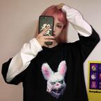 【tops】 動物柄ファッション切り替えTシャツ23061230