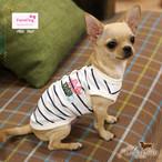 9。Paris Dog【正規輸入】犬 服 Tシャツ ブルー ベージュ 春 夏 秋物