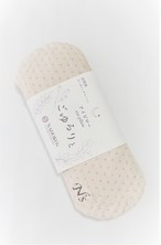 【アイマスク・ピロー多機能】オーガニック綿ニット草木染・茶ドット