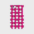 《癒やしの小鳥》シマエナガのオリジナルスマホケース(pink)【送料無料】