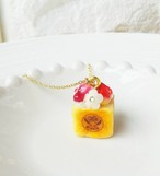 【CHITTO】no.a0110175  ミニハニートーストネックレス(イチゴ)