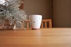 砥部焼/フリーカップ/水玉・赤ライン/すこし屋
