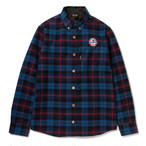 430 FOURTHIRTY L/S NEL PDNG SHIRTS BLU サイズ2