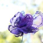 紫炎の花|カラフルオーガンジーのアートフラワー【造花】