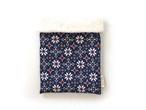 ハリネズミ用寝袋 M(冬用) フランネル×ボアフリース 雪の結晶 ブルー