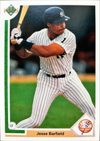MLBカード 91UPPERDECK Jesse Barfield #485 YANKEES