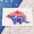 ダイナソーブローチ ステゴサウルス no.1