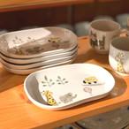 【砥部焼/輝山窯】こども食器・プレート(きりん+ゾウ)