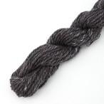 シルクメリノ 黒系ツイード ゲージ用サンプル糸(silk_M10)手紡ぎ毛糸オーダー(送料込)