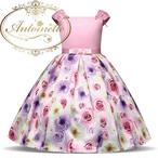 バラ 花柄 リボン おんなのこ 100 110 120 130 140 150 ウェディング リングガール 演奏会 誕生日 ドレス