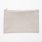 【annas Original】刺繍用ファスナーポーチ サンドベージュ(旧カーキ)